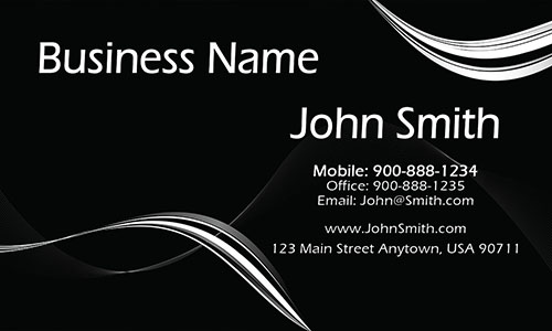 Black Personal Business Card - Design #1201111