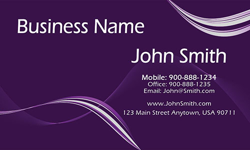 Purple Personal Business Card - Design #1201115