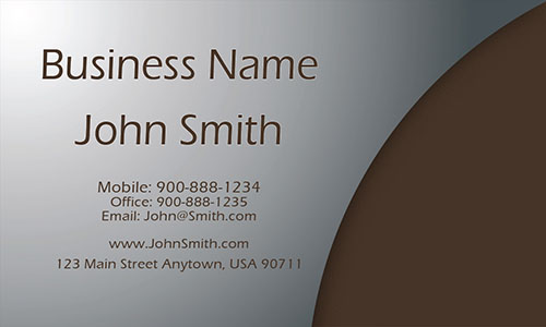 Brown Personal Business Card - Design #1201121