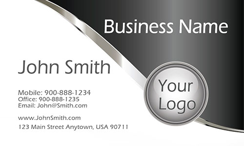 Gray Personal Business Card - Design #1201144