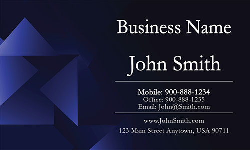 Blue Personal Business Card - Design #1201151