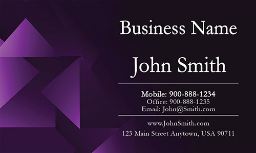Purple Personal Business Card - Design #1201153