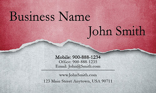 Red Personal Business Card - Design #1201292