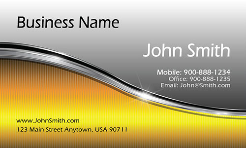 Yellow Personal Business Card - Design #1201311