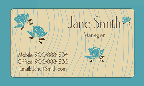 Blue Personal Business Card - Design #1201481