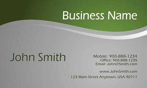 Green Personal Business Card - Design #1201491
