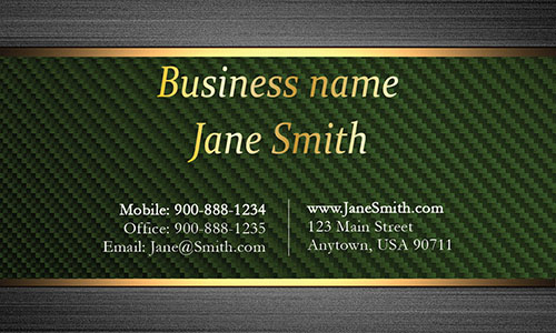Green Personal Business Card - Design #1201555