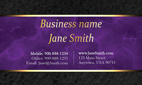 Purple Personal Business Card - Design #1201564