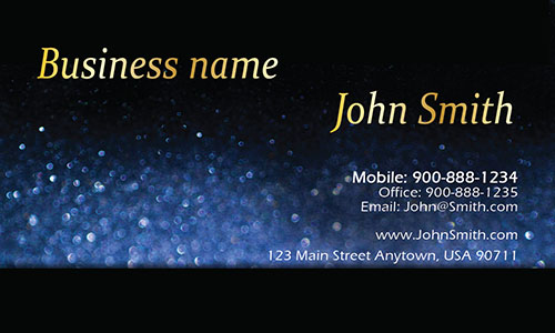 Blue Personal Business Card - Design #1201583
