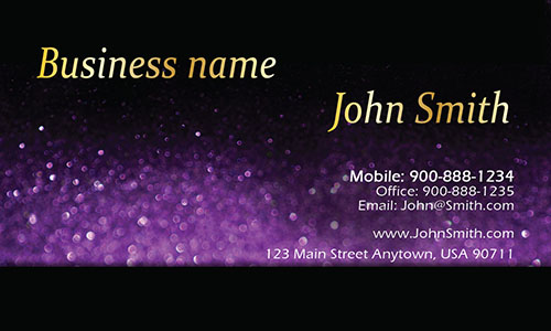 Purple Personal Business Card - Design #1201584