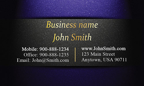Unique Layout Blue and Gold Visiting Card - Design #1201592