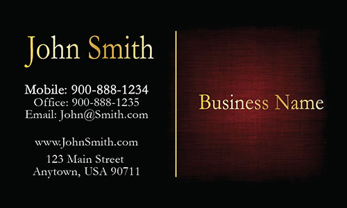Red Personal Business Card - Design #1201602
