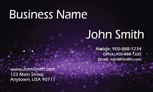 Purple Personal Business Card - Design #1201624