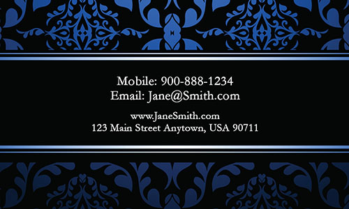 Blue Personal Business Card - Design #1201791