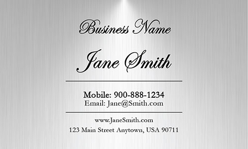 Gray Personal Business Card - Design #1201821
