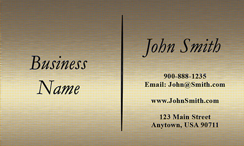 Yellow Personal Business Card - Design #1201841