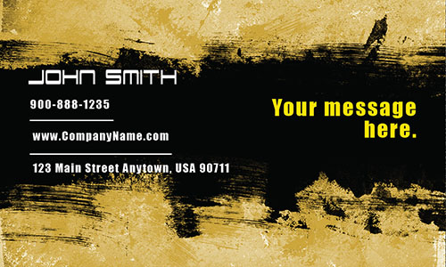 Yellow Personal Business Card - Design #1201861