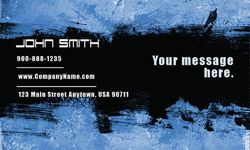 Blue Personal Business Card - Design #1201862
