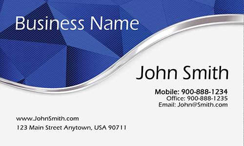 Blue Personal Business Card - Design #1201881