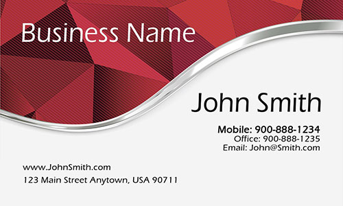 Red Personal Business Card - Design #1201885
