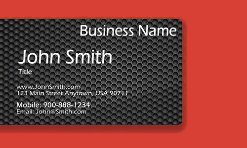 Red Personal Business Card - Design #1201962