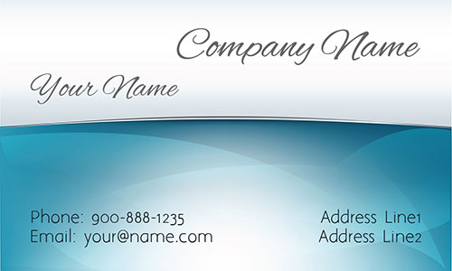 Blue Window Cleaning Business Card - Design #1303021
