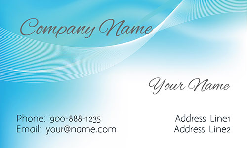 Blue Window Cleaning Business Card - Design #1303031