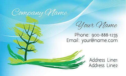 Professional Tree Landscaping Business Card - Design #1304012