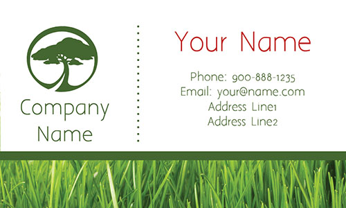 Tree Care White Business Card - Design #1304112
