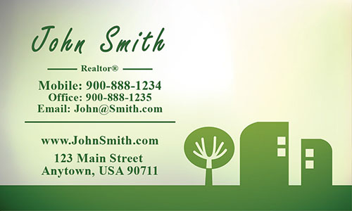 Green Architecture Business Card - Design #1401181