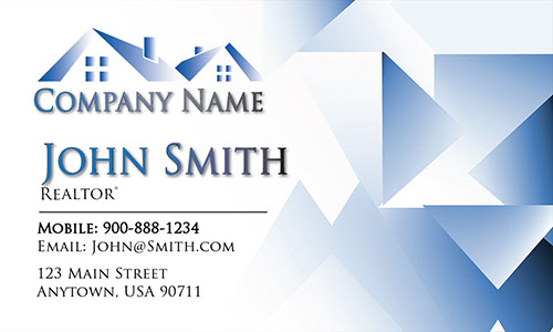 Blue Architecture Business Card - Design #1401192