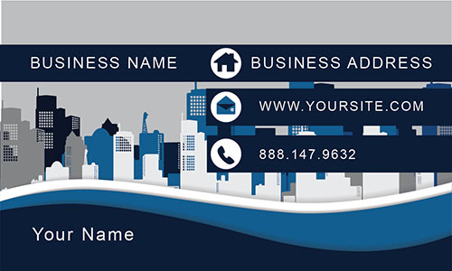 Blue Architecture Business Card - Design #1401221