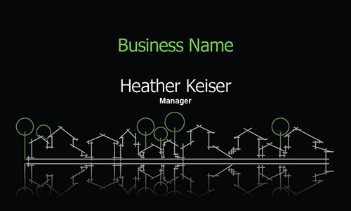 Black Architecture Business Card - Design #1401231
