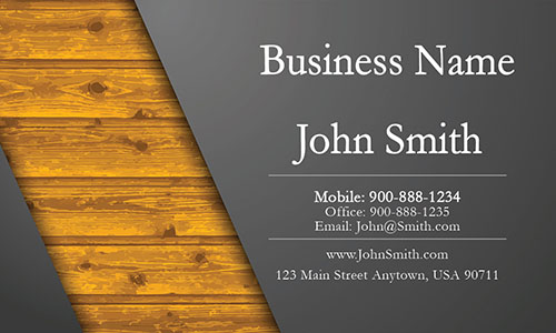 Gray Construction Business Card - Design #1501011