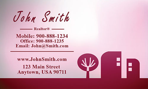 Red Construction Business Card - Design #1501153
