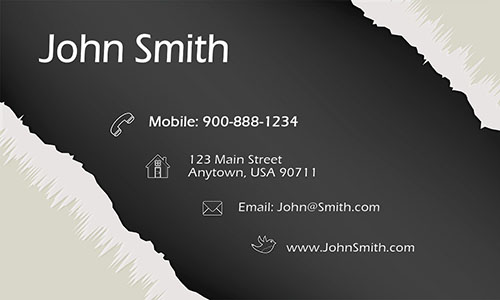 Gray Consulting Business Card - Design #1601021