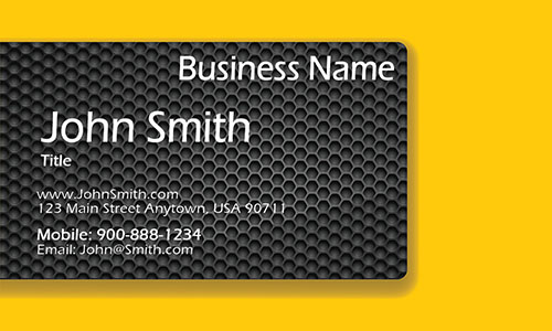Yellow Consulting Business Card - Design #1601193