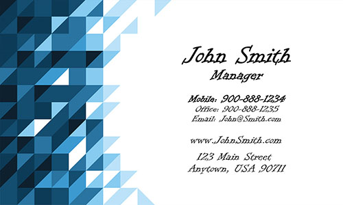 Blue Painting Business Card - Design #1701071