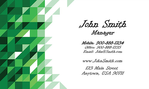Green Painting Business Card - Design #1701074