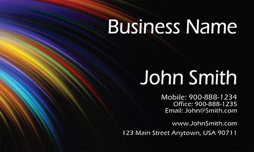 Black Painting Business Card - Design #1701081