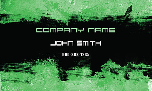 Green Painting Business Card - Design #1701093