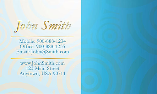 Blue Jewelry Business Card - Design #1901031