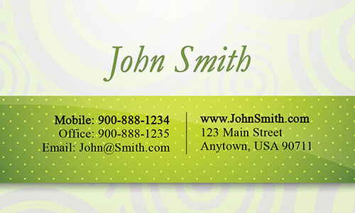 Green Jewelry Business Card - Design #1901041