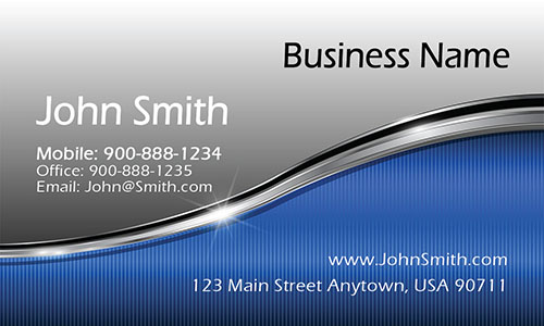 Blue Jewelry Business Card - Design #1901061