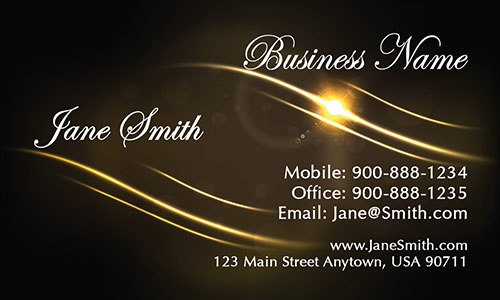 Brown Jewelry Business Card - Design #1901091