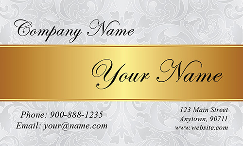 White Jewelry Business Card - Design #1901141