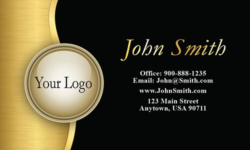Gold Logo Black Financial Consulting Business Card - Design #2001031