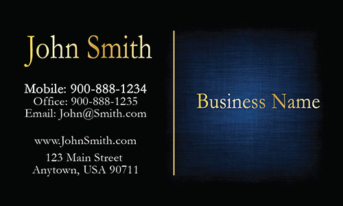 Elegant Blue Accounting Business Card - Design #2001091