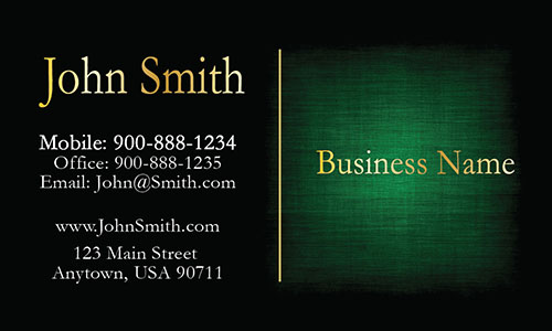 Elegant Green Accounting Business Card - Design #2001093
