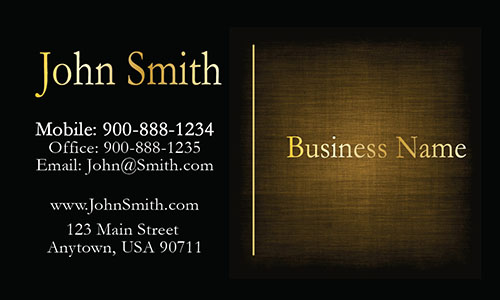 Elegant Gold Accounting Business Card - Design #2001094